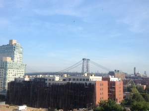 an the view of Williamsburg bridge